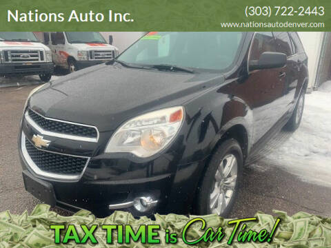 2010 Chevrolet Equinox for sale at Nations Auto Inc. in Denver CO