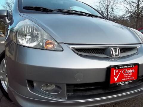 2008 Honda Fit for sale at 1st Choice Auto Sales in Fairfax VA