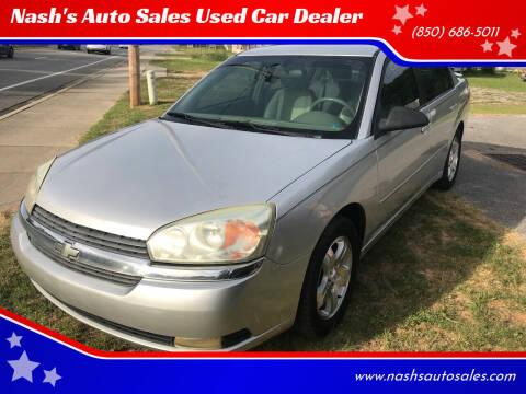 2005 Chevrolet Malibu for sale at Nash's Auto Sales Used Car Dealer in Milton FL