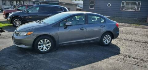 2012 Honda Civic for sale at MGM Auto Sales in Cortland NY