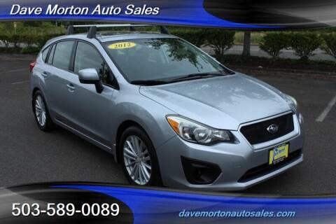 2012 Subaru Impreza for sale at Dave Morton Auto Sales in Salem OR