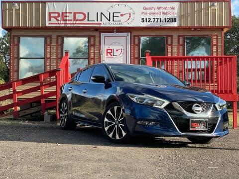 2016 Nissan Maxima for sale at REDLINE AUTO SALES LLC in Cedar Creek TX