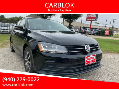 2017 Volkswagen Jetta for sale at CARBLOK in Lewisville TX