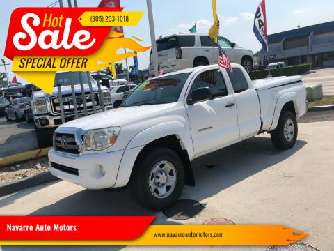 2010 Toyota Tacoma for sale at Navarro Auto Motors in Hialeah FL