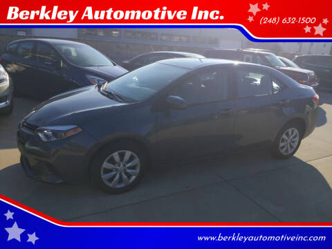2014 Toyota Corolla for sale at Berkley Automotive Inc. in Berkley MI