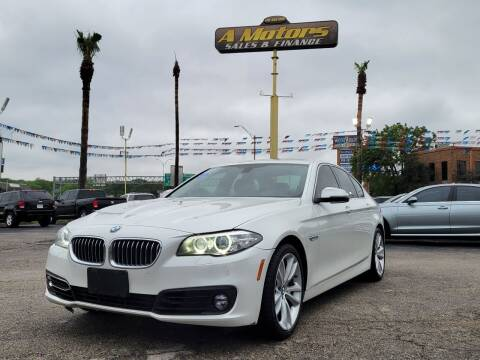 2015 BMW 5 Series for sale at A MOTORS SALES AND FINANCE in San Antonio TX