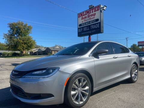 2015 Chrysler 200 for sale at Unlimited Auto Group in West Chester OH