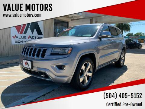 2014 Jeep Grand Cherokee for sale at VALUE MOTORS in Kenner LA