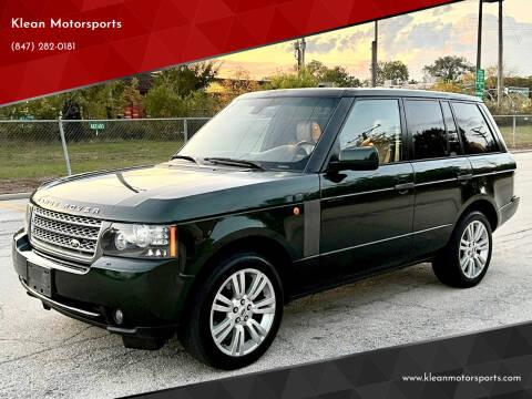 2010 Land Rover Range Rover for sale at Klean Motorsports in Skokie IL