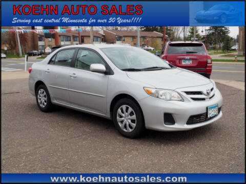 2011 Toyota Corolla for sale at Koehn Auto Sales in Lindstrom MN