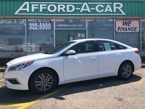 2016 Hyundai Sonata for sale at Afford-A-Car in Dayton/Newcarlisle/Springfield OH
