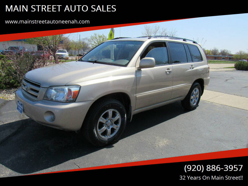 2007 Toyota Highlander for sale at MAIN STREET AUTO SALES in Neenah WI