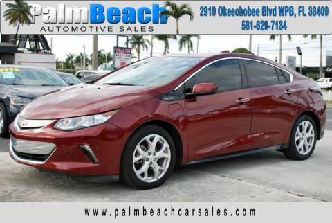 2017 Chevrolet Volt for sale at Palm Beach Automotive Sales in West Palm Beach FL