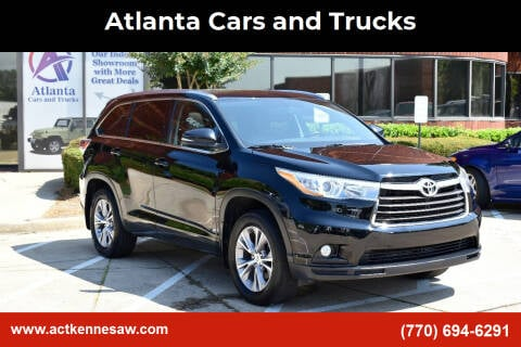 2015 Toyota Highlander for sale at Atlanta Cars and Trucks in Kennesaw GA