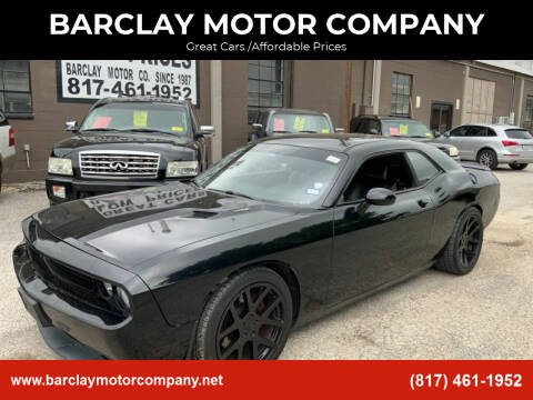 2012 Dodge Challenger for sale at BARCLAY MOTOR COMPANY in Arlington TX
