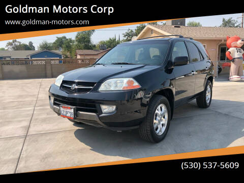 2002 Acura MDX for sale at Goldman Motors Corp in Stockton CA