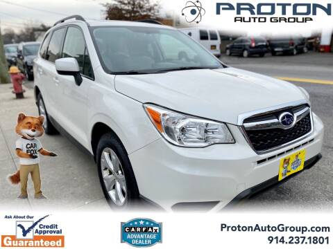 2016 Subaru Forester for sale at Proton Auto Group in Yonkers NY