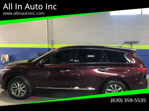 2013 Infiniti JX35 for sale at All In Auto Inc in Addison IL