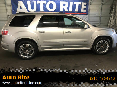 2011 GMC Acadia for sale at Auto Rite in Cleveland OH