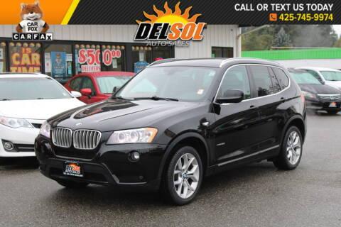 2013 BMW X3 for sale at Del Sol Auto Sales in Everett WA