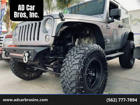 2017 Jeep Wrangler for sale at AD Car Bros, Inc. in Whittier CA