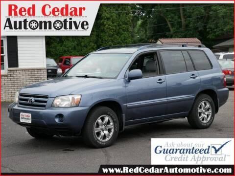 2005 Toyota Highlander for sale at Red Cedar Automotive in Menomonie WI