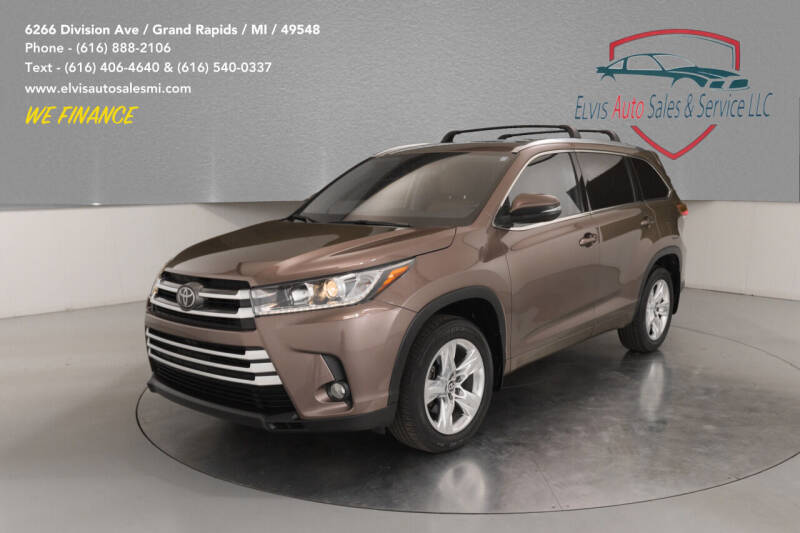 2018 Toyota Highlander for sale at Elvis Auto Sales LLC in Grand Rapids MI