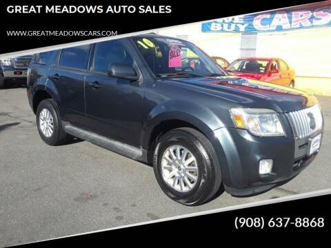 2010 Mercury Mariner for sale at GREAT MEADOWS AUTO SALES in Great Meadows NJ