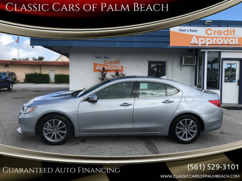 2018 Acura TLX for sale at Classic Cars of Palm Beach in Jupiter FL