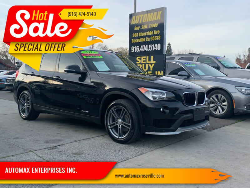 2015 BMW X1 for sale at AUTOMAX ENTERPRISES INC. in Roseville CA
