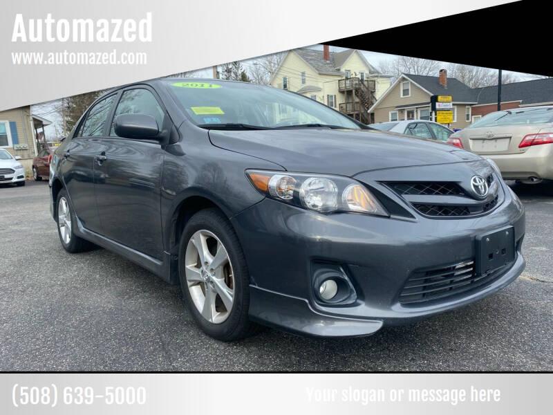 2011 Toyota Corolla for sale at Automazed in Attleboro MA
