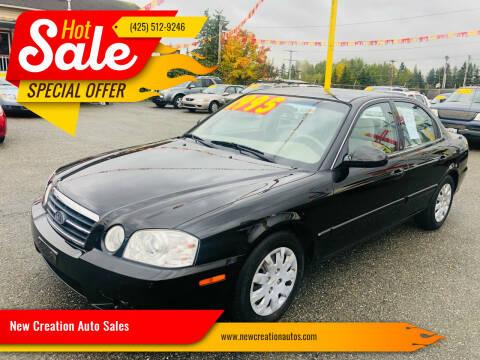 2006 Kia Optima for sale at New Creation Auto Sales in Everett WA