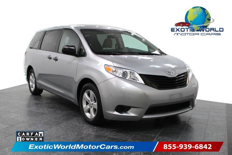 2017 Toyota Sienna for sale at Exotic World Motor Cars in Addison TX