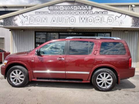 2009 Infiniti QX56 for sale at Don Auto World in Houston TX