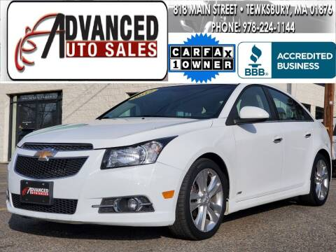 2012 Chevrolet Cruze for sale at Advanced Auto Sales in Tewksbury MA
