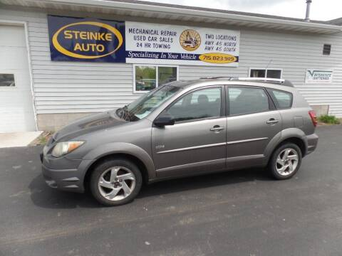 2004 Pontiac Vibe for sale at STEINKE AUTO INC. - Steinke Auto Inc (South) in Clintonville WI