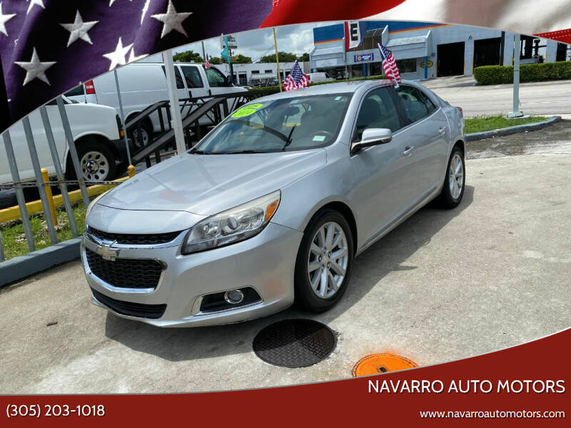 2014 Chevrolet Malibu for sale at Navarro Auto Motors in Hialeah FL