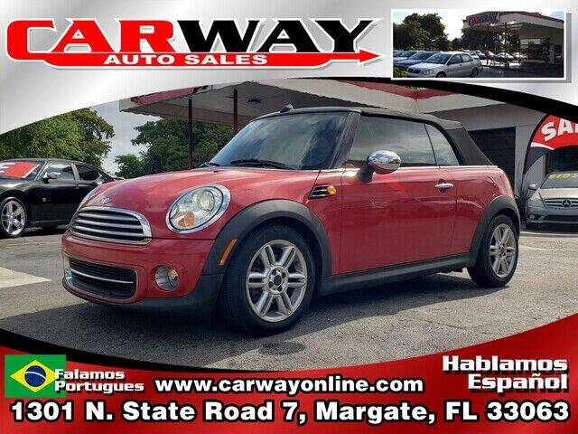 2012 MINI Cooper Convertible for sale at CARWAY Auto Sales in Margate FL