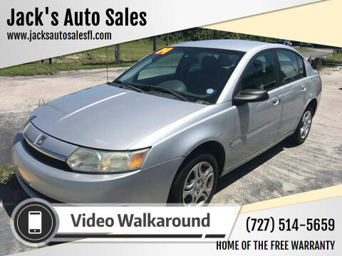 2004 Saturn Ion for sale at Jack's Auto Sales in Port Richey FL