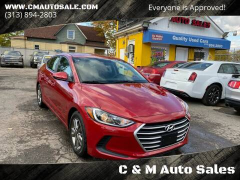 2018 Hyundai Elantra for sale at C & M Auto Sales in Detroit MI