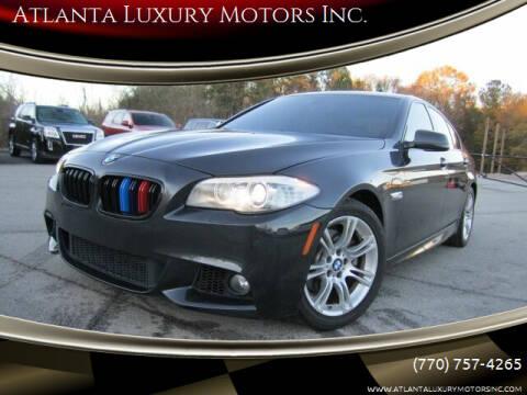 2013 BMW 5 Series for sale at Atlanta Luxury Motors Inc. in Buford GA
