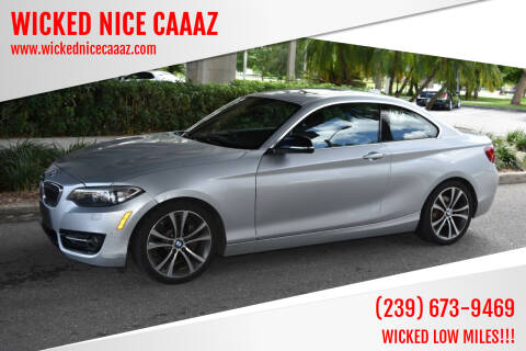 2015 BMW 2 Series for sale at WICKED NICE CAAAZ in Cape Coral FL