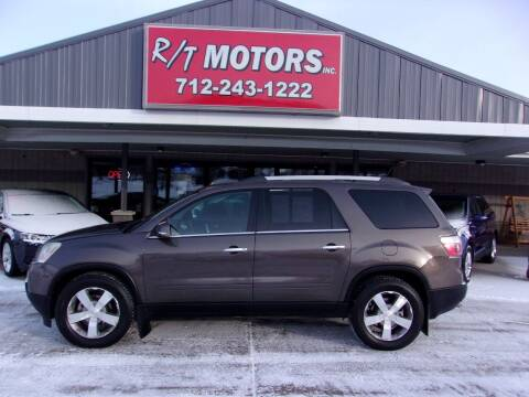 2011 GMC Acadia for sale at RT Motors Inc in Atlantic IA
