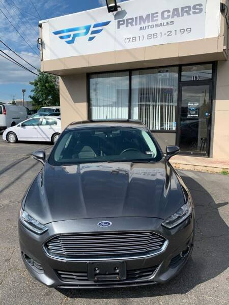 2015 Ford Fusion for sale at Prime Cars Auto Sales in Saugus MA
