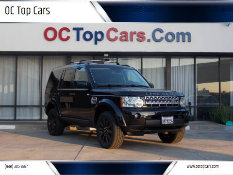 2013 Land Rover LR4 for sale at OC Top Cars in Irvine CA