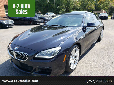2016 BMW 6 Series for sale at A-Z Auto Sales in Newport News VA