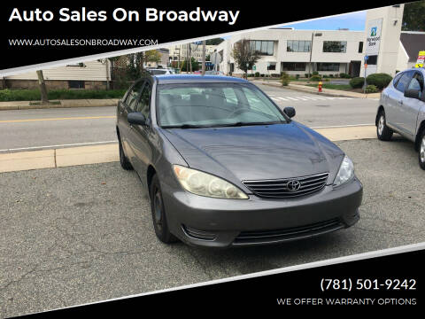 2006 Toyota Camry for sale at Auto Sales on Broadway in Norwood MA