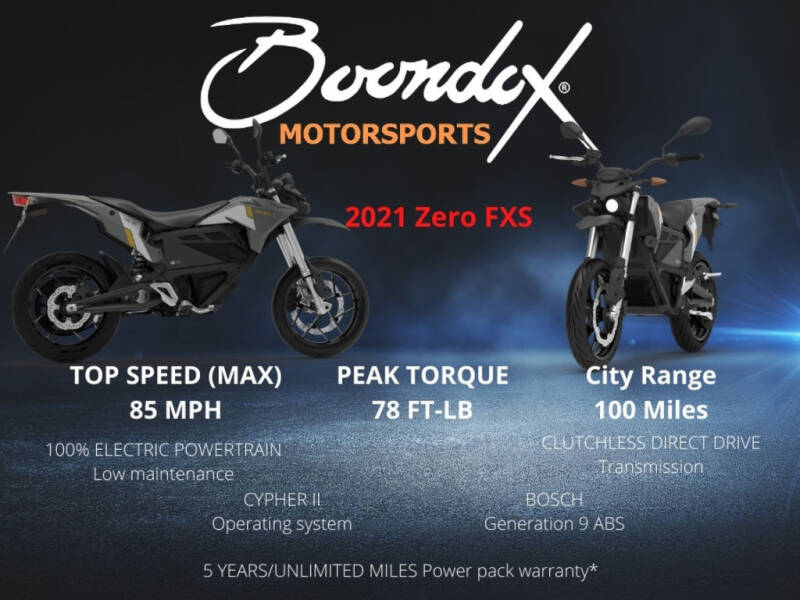 2021 Zero FXS ZF7.2 for sale at Boondox Motorsports in Caledonia MI