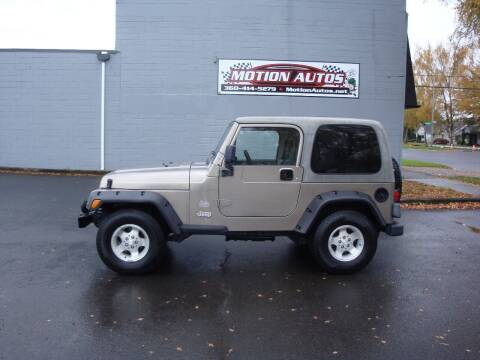 2003 Jeep Wrangler for sale at Motion Autos in Longview WA