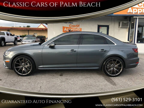 2019 Audi A4 for sale at Classic Cars of Palm Beach in Jupiter FL